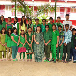 Junior College Celebrating Green Day 2014