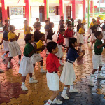 Primary Kids Practising Dance Moves - Recreation Zone